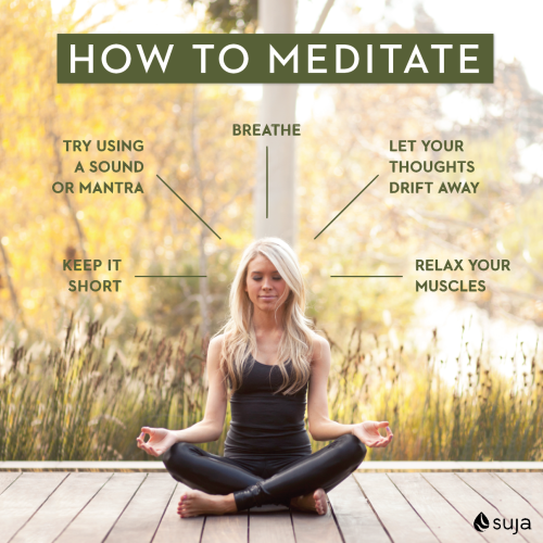 how to meditate infographic