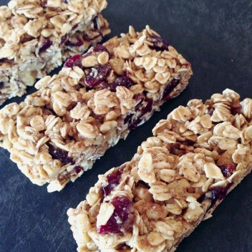 Raw Cherry Wlnut Granola Bars