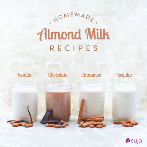 four suja juice almond milk recipes