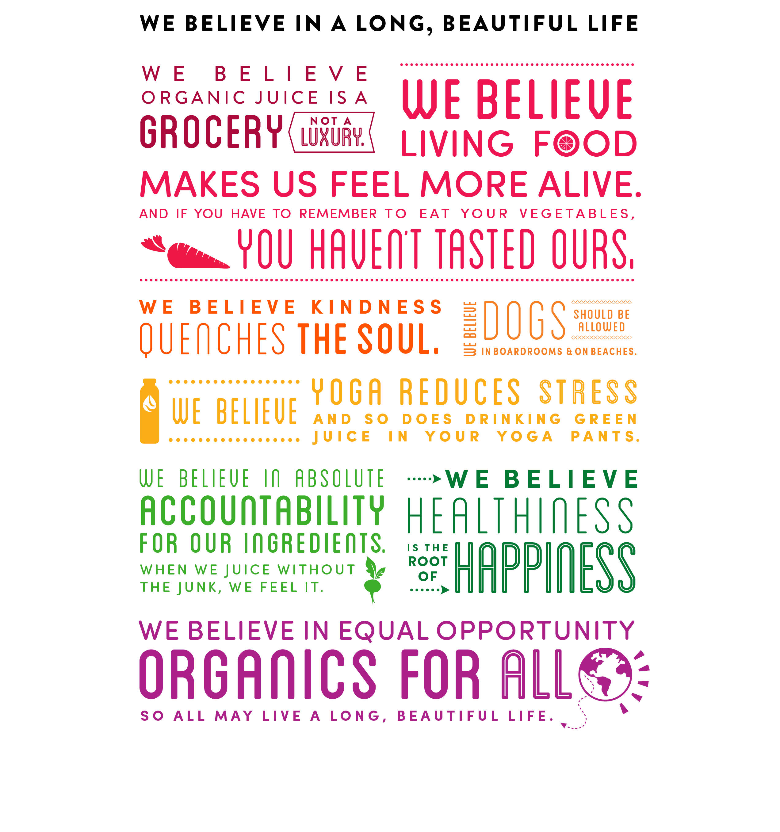Suja Juice Company Mission and Beliefs